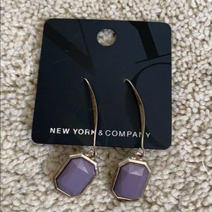 Ny and co earrings purple